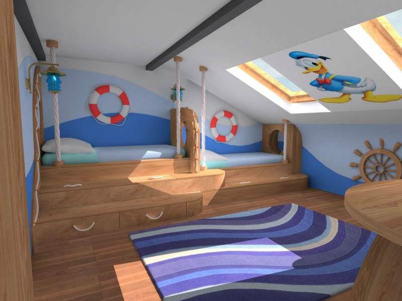 les chambres d enfant sous combles working mama. Black Bedroom Furniture Sets. Home Design Ideas