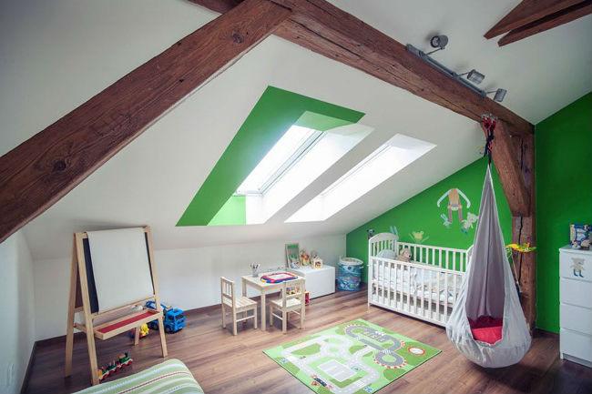 Les chambres d\'enfant sous combles - Working Mama